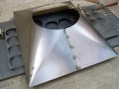 ダクト部品SS4.5mmのレーザー切断& 角丸巻き