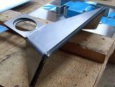 機械部品SS400、3.2mmのレーザー切断&3ヶ所曲げ